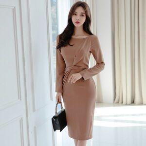DHgate dresses elegant party office women knee length female bodycon midi spring c2oi a6sp