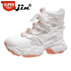 DHgate fujin 2021 boots summer sneakers platform walking casual boots chunky booties breathable air mesh donot sweat high shoes #ix6m