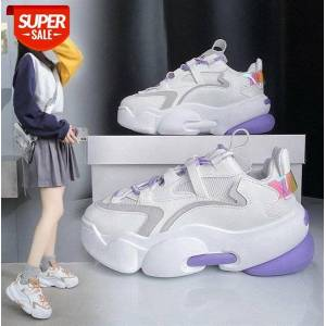 DHgate lace-up old shoes women korean version of the platform casual sports women's white single #r20w