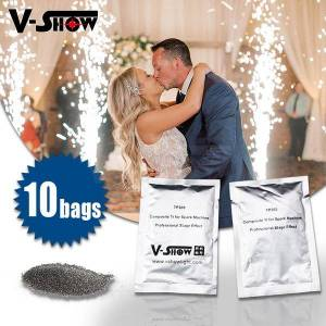 DHgate v-show 10bags composite ti powder200g/bag special stage lighting effect for cold spark machine wedding firework fountain msds certification
