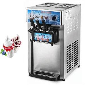 DHgate ice cream making machine deskthree-color commercial mini automatic cone soft