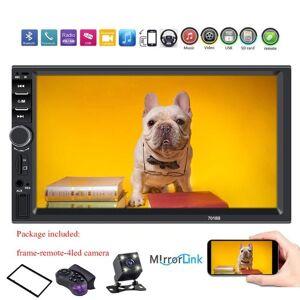 "DHgate car video 2 din radio 7"" hd autoradio multimedia player 2din touch screen auto audio stereo mp5 bluetooth usb tf fm camera 7018b"