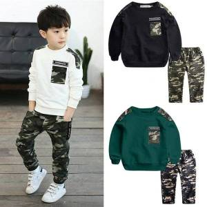 DHgate girl's dresses teen kids baby boys clothes long sleeve winter letter tracksuit camouflage  pants 2pcs outfits set vetement bebe fille c