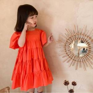 DHgate children summer kids clothes girls girl dresses ruched princess baby party evening clothing