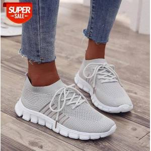 DHgate flying woven couple lace-up sneakers women korean casual flat-bottomed women's student #ks20