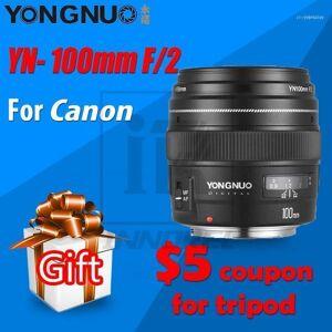 DHgate yn100mm f2 af/mf medium telepo lens for canon eos dslr camera 100mm fixed focal ef mounting port 600d 60d 80d 6d 5d311