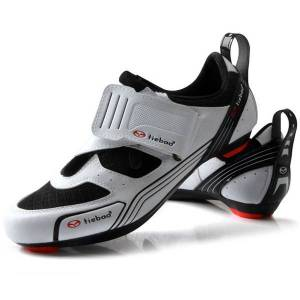 DHgate tiebao outdoor road cycling shoes spinning class bike shoes triple straps compatible with spd,spd-sl look-keo cleat
