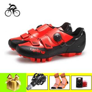 DHgate professional cycling shoes men women ultra-light mountain bike sneakers spd pedals spinning breathable self-locking bicycle shoe