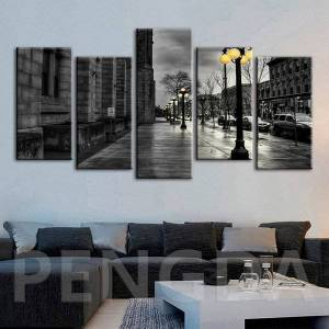 DHgate canvas paintings hd print city street view wall artwork modern poster home decoration modular pictures for bedroom framework