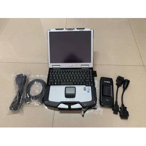 DHgate truck diagnosis scanner tool vcads pro with lapcf30 toughbook ram 4g cables full set ready to work