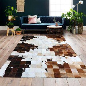 DHgate american style cowhide patchwork rug big size genuine cow skin fur carpet plaid decorative living room rug sales