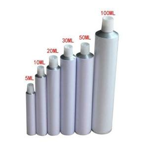 DHgate 10pcs aluminum empty toothpaste tubes w/ needle cap unsealed 10ml 20ml 30ml 50ml 100ml