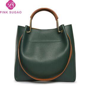 DHgate pink sugao designer luxury handbags purses women tote bags large capacity shoulder handbags 2019 new fashion pu leather bucket handbags