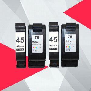 DHgate 4pk compatible ink cartridges for 45 78 deskjet 1220c 3820 3822 6122 6127 930c 932c 940c 950c printers for 45 78