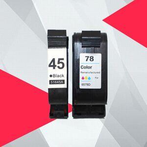 DHgate compatible ink cartridges for 45 78 deskjet 1220c 3820 3822 6122 6127 930c 932c 940c 950c printers for 45 78