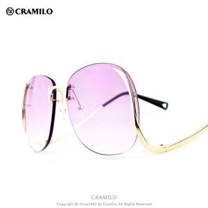 DHgate wholesale-rita 1601 vintage oversized rimless sunglasses blue lenses