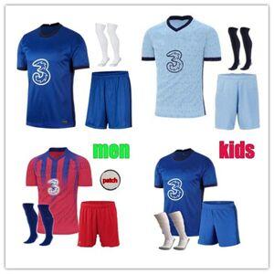 DHgate men kids 2020 2021 kovacic willian pulisic soccer jersey kits 19 20 21 jorginho giroud kante pedro batshuayi football shirt full set uniform
