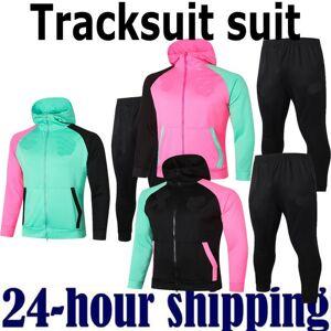 DHgate 20 21 new mens football tracksuit barca soccer tracksuit training suit jacket 2020 2021 men training survetement foot chandal tuta jogging