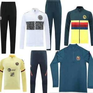 DHgate 2021 mexico liga mx club america giovani tracksuit soccer jacket suit c.blanco full zipper football club sportswear training sets 21 22