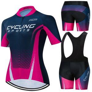 DHgate summer women pro team uniform cycling jersey set abbigliamento bici mtb ropa ciclismo bicicletta equitazione maillot quick gym clothing