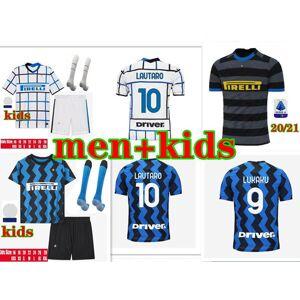 DHgate 20/21 inter soccer jerseys alexis lukaku lautaro de vrij 2020 2021 kids kit politano skriniar maillot de foot football shirt kit