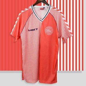 DHgate retro denmark 1986 soccer jerseys larsen olsen laudrup mölby lerby vintage denmark football shirt classic kit