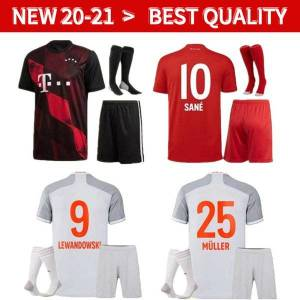 DHgate adults and kids 20 21 bayern kit munich soccer jerseys lewandowski 2020 2021 hernandez coutinho child uniforms full set football