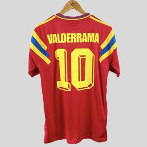 DHgate retro colombia 1990 home soccer jerseys valderrama escobar futbol camiseta vintage football shirt classic kit