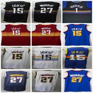 DHgate ncaa mens nikola 15 jokic jersey wholesale jamal 27 murray michael 1 porter jr. retro vintage blue white black basketball jerseys