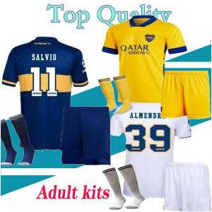 DHgate 20 21 boca juniors soccer jerseys sets pavon de rossi 2020 2021 maradona tevez men football kits shirt full uniform