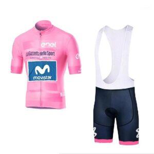 DHgate 2020 tour italia pink richard carapaz pro team cycling jersey kits racing bike cloth ropa ciclismo maillot gel pad1