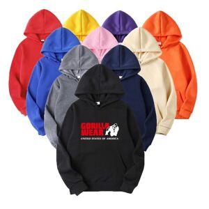 DHgate the screw thread cuff hoodies streetwear gorilla print hoodie sweatshirt men fashion autumn winter hip hop hoodie sportswear to