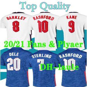 DHgate fans player s-4xl 2020 englan soccer jerseys 20 21 gerrard lampard kane dele sterling home away football shirt set 20 21 men kit uniforms