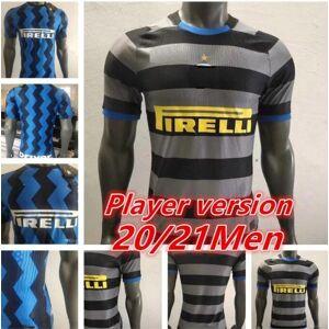 DHgate player version 2021 lukaku lautaro inter home away 3rd soccer jerseys barella maglia 20 21 football shirt men sets uniform