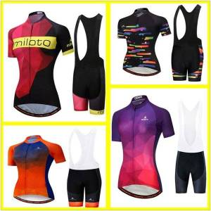 DHgate cycling traje de bici verano woman short sleeve polyester uv protection breathable bike maillot ciclista hombre cortos 19d racing sets