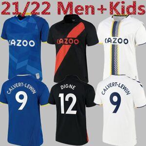 DHgate 21 22 soccer jerseys james allan doucoure away black football shirt set goalkeeper 2021 2022 kean richarlison goalie thailand men kids kit u