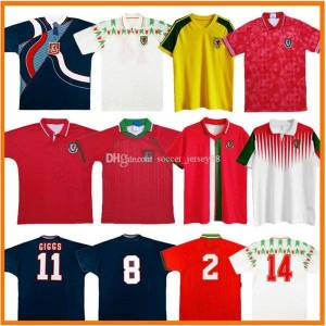 DHgate wales retro soccer jerseys 1982 1990 1991 1992 1995 1996 1998 1994 bale 90 91 92 94 95 96 98 15 16 giggs hughes saunders rush boden speed vi