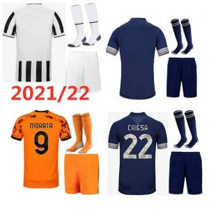 DHgate 21 22 men + kids kit soccer jerseys 2021 2022 home away 3rd child set maillot de foot custom name number football shirt short