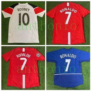 DHgate 2007/2008 retro vintage classic ronaldo rooney beckham soccer jerseys camisa 2010/11 football shirt kits camiseta futbol maillot de foot