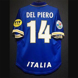 DHgate retro italy soccer jerseys titti pirlo baggio inzaghi del piero cannavaro maldini nesta baresi vieri vintage italia kit classic shirt
