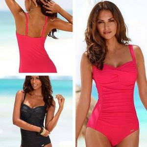 DHgate swimsuit women classic vintage swimwear sliming push up bathing suit summer swimming suit beachwear xxl