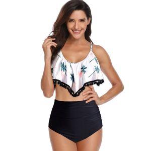 DHgate 2019 swimsuit bikini set retro ruffled latest plus size high waist designer bikini halter collar two-piece designer swimwear