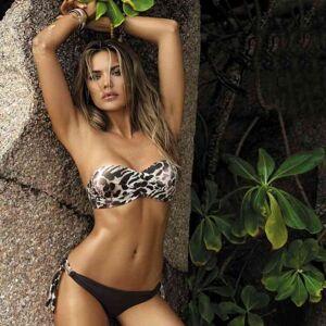 DHgate women's swimwear plus size leopard print bikini set women micro push up swimsuit female bathing biquini beachwear yv34