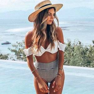 DHgate women's swimwear bikinis swimsuit push up bikini set s-xxl bandage bra bottom bathers swimming suit for biquini beach m1vh