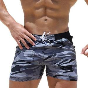 DHgate explosion style men's beach surfing shorts summer camouflage swimming shorts fitness shorts simple beach men's swimming trunks