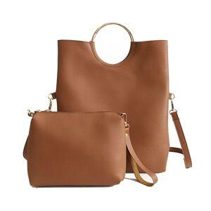 DHgate vintage ring women hangbags women's shoulder bags fold ladies clutches crossbody bags for female wristlet totes purse 2 pcs/set