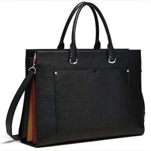 DHgate 2021 maleta para as mulheres fino 15.6 polegada porttil negcios preto couro genuno bolsa ombro sacos ypb6