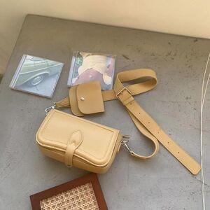 DHgate 2021 fashion women's bag solid color pu leather ladies shoulder bag female crossbody women mini 2 sets purse whole sale
