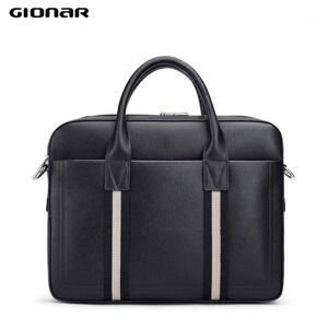 DHgate gionar genuine leather briefcase men water resistant business messenger shoulder bag fits 14 15.6 inch lapnotebook tablet1