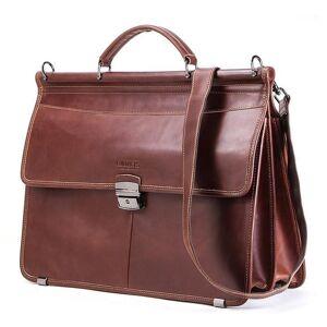 "DHgate bag for 15.6"" business men briefcase genuine leather messenger shoulder bags male tote bag bolsas casual men lapgift for1"